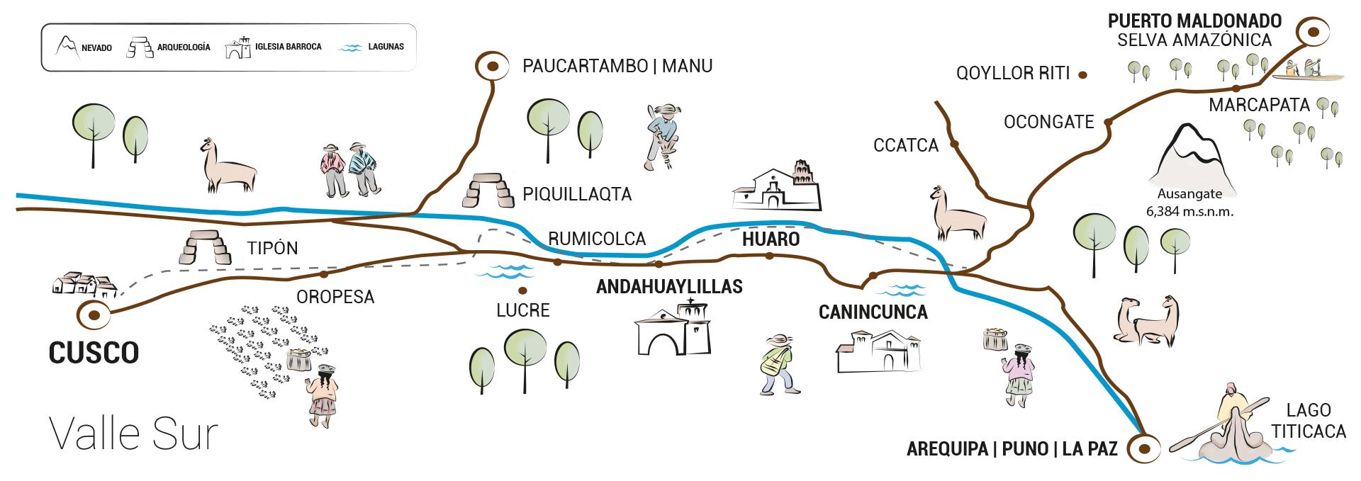 la ruta del barroco andino - mapaRBA